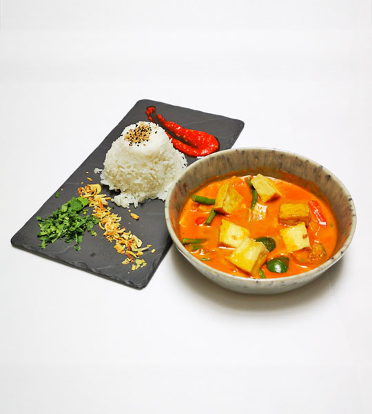 Rotes Tofu Curry