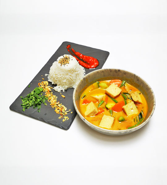 Gelbes Tofu Curry