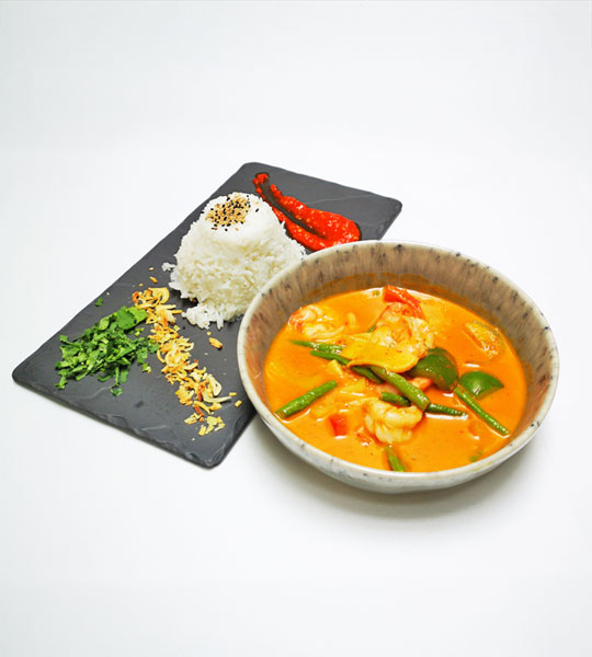 Rotes Seafood Curry